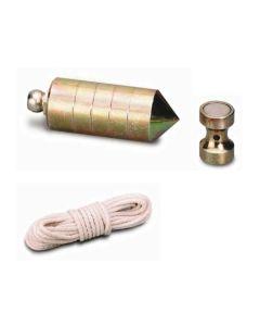 Plomada albañil 0700gr nusac laton ma nuez magnetica juego hierro 17207i