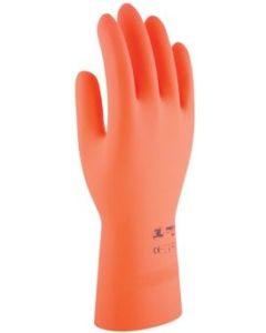 Guante quimico natural flocado latex naranja protex 3l protex 3121 t-8