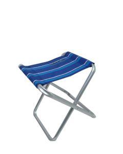 Taburete piscina plegable 37x38x45cm aluminio/textileno azul natuur