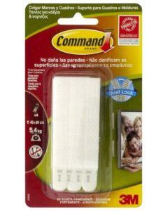 Adhesivo colgador cuadros marco estrecho tira blanco command 7100127050