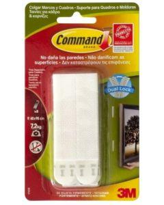 Adhesivo colgador cuadros marco grande tira blanco command 7100127051