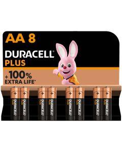 Pila alcalina lr06 aa 1,5v duracell 8 pz 5000394017764