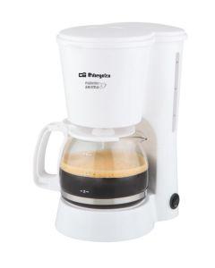 Cafetera electrica goteo 650w 6tz blanca orbegozo cg-4012