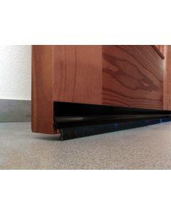 Burlete bajo puerta adhesivo cepillo 092cm aluminio negro burcasa 127280