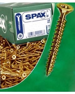 Tornillo rosca madera cabeza plana huella pozidriv 05x035mm bicromatado spax acero 10 pz 7081020500351
