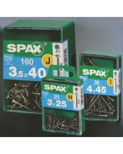 Tornillo rosca madera cabeza plana huella pozidriv 05x050mm inox spax acero 12 pz 7087000500502