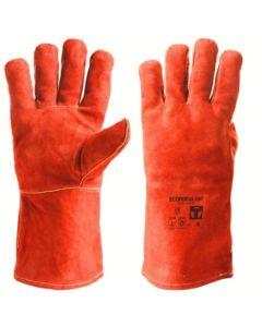 Guante soldadura l09 largo 35cm serraje rojo eco forja 350 3l