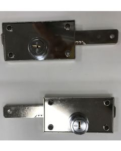 Cerradura seguridad persiana lateral laton pulido 584 aga