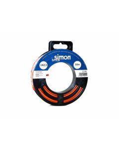 Cable electricidad hilo flexible 1x2,5  10mt marron simon brico