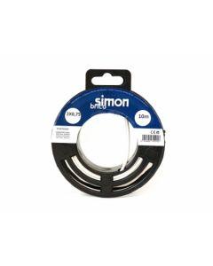 Cable electricidad manguera plana 2x0,75 10mt blanco simon brico