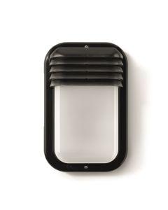 Aplique iluminacion negro pvc famatel exterior vertical 4415g
