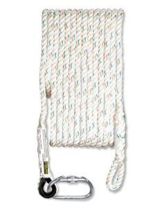 Cuerda seguridad dispositivo wind 20mt 12mm ø poliester steelpro 1888-c20