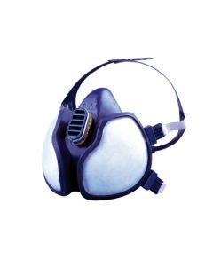 Mascarilla proteccion gases tipo mosca termoplastico azul 3m