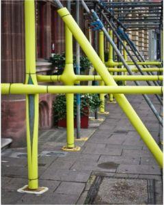 Protector tubo andamio ø50x200cm polietileno amarillo seimark
