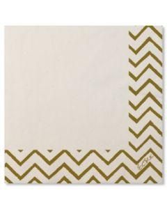 Servilleta mesa 33x33 papel blanco/oro chevron extra 20 pz 07rcl 118157