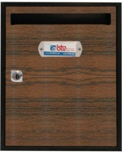 Buzon interior vertical 300x240x80mm acero sapeli teide btv