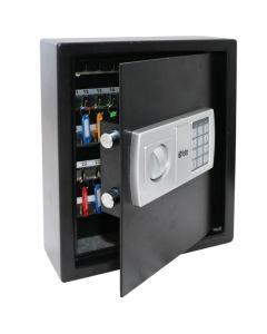 Armario llavero seguridad 360x300x100mm acero negro 48 btv