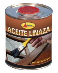 Aceite linaza protector incoloro 750 ml con secante envase metalico promade  co