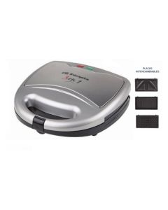 Sandwichera cocina multifuncion 3 en 1 800w blanco orbegozo