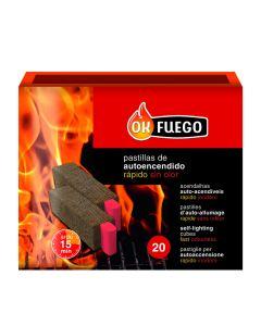 Pastilla encendido barbacoa ecologica autoencendido ok fuego 20 pz 50273         119273 119273