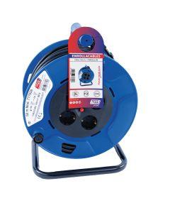 Enrollacable electricidad 4 tomas tt termostato 3x1,5mm 50mt 3000w 265mm ip20 ta