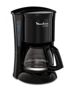 Cafetera electrica goteo 600w autoapagado 06tz principio 6 moulinex fg152832
