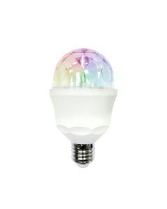 Lampara iluminacion led e27 3w 59lm multicolor disco light garza