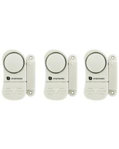 Alarma puerta/ventana plastico blanco smartwares 3 ud 10.017.13