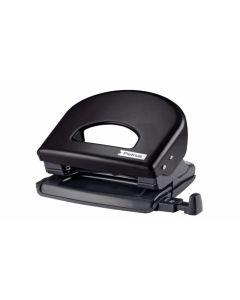 Perforadora papel oficina petrus negro 62 623356
