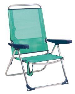 Silla playa alta azul verdoso alco