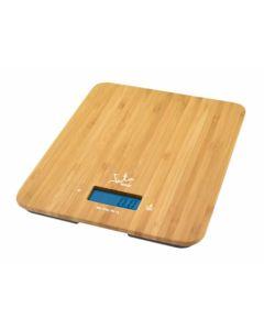 Balanza cocina electronica 15kg bambú jata hogar