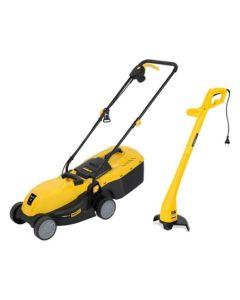 Cortacesped jardin electrico 1200w + cortaborde electrico 32cm powerplus 120428