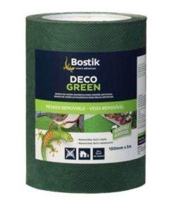 Banda adhesiva cesped artificial 005mtx15cm verde dgreen bostik