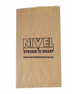 Bolsa punto de venta papel 35gr 12 x 21,5 x 5cm kraft marron nivel