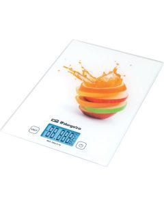 Balanza cocina electronica lcd 20kg/29x5x21cm cristal orbegozo
