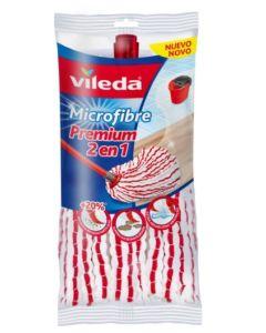 Fregona limpieza microfibra blanco/rojo premium 2 en 1 vileda v60.157943         121333