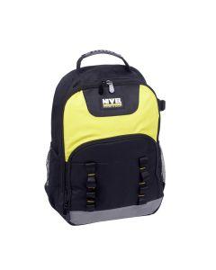 Portaherramientas profesional mochila con divisores interior 33x23x47cm nivel