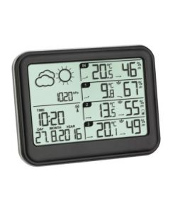 Estacion meteorologica inalambrica sensor temperatura negro tfa 35,1142,01