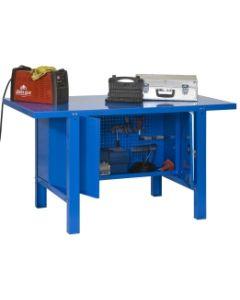 Banco trabajo 1 balda con tornillos 830x1800x730mm metal azul simonrack 444100218001800