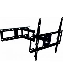 """Soporte television vesa 600x400 giratorio con brazo carga maxima 40kg 34-70"""" pared 90-530mm negro vivahogar"""