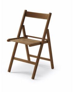 Silla plegable nogal madera vivahogar 42,5x47,5x79cm vh122847                     122847