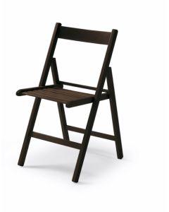 Silla plegable wenge madera vivahogar 42,5x47,5x79cm vh122848