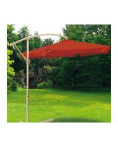 Parasol jardin lateral sin faldon 3mt aluminio terracota natuur nt123406         123406