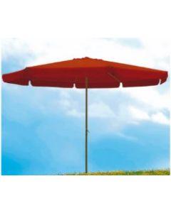 Parasol jardin redondo 4m aluminio terracota natuur nt123515         123515