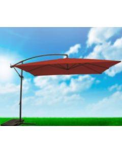 Parasol jardin lateral cuadrado 3x3 m acero terracota natuur nt123516         123516