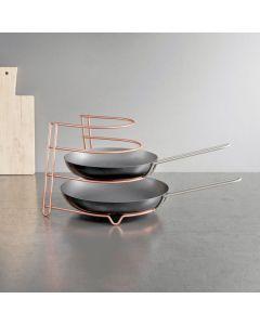 Organizador cocina sartenes 23x27x23cm inox canyon copper metaltex