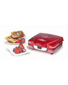Gofrera electrico 700w superficie antiadherente 23x10x20,5cm rojo party time ari