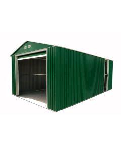 Garaje coche 370x604x260cm apertura vertical duramax metal verde garaje lyon 509