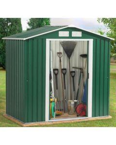 Caseta ordenacion doble puerta 261x182x203cm verde titan 8x6 duramax