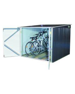 Caseta bicicleta 203x202x163cm 4 bicicletas duramax metal gris oscuro guardabici